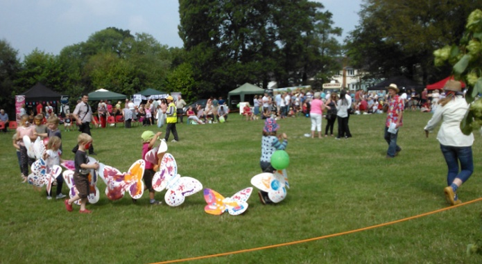 2014 Village Fete butterfly parade